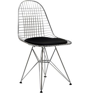 Wire Tower Black Vinyl Cushion Side Chair | Overstock.com Shopping - Great Deals on Modway Dining Chairs