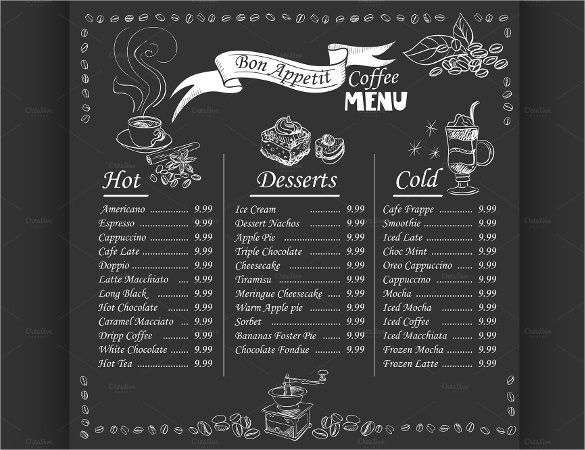 Chalkboard Menu Templates 37 Free Psd Eps Format Download With