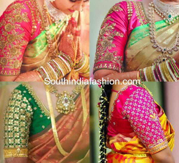 Beautiful Blouse Designs for Wedding Silk Sarees