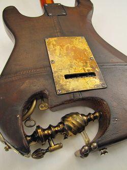 Aladdincaster guitar back detail Picture