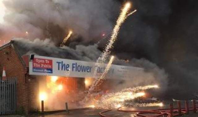 Firework Shop Fire Sets Off Spectacular Display
