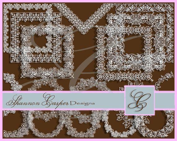 flower lace borders huge bundle clipart lace borders