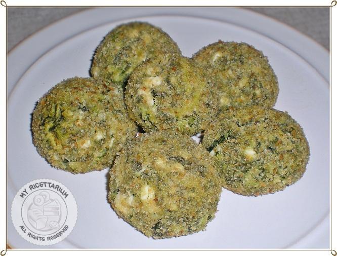 Chicory and feta meatballs - Polpette di cicoria e feta