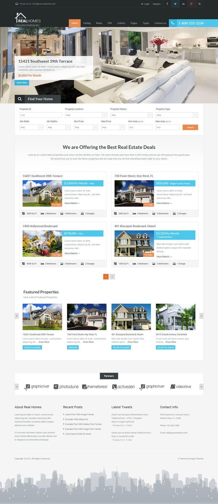 Real Estate Web Design WordPress Website