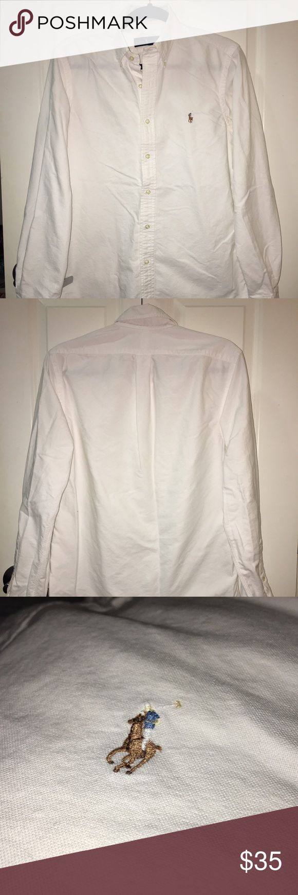 Mens Polo Ralph Lauren Button Down A staple for any man's closet. From Polo Ralph Lauren Factory Store. Fits like a medium. Excellent condition. (Worn 4-5 times). Polo by Ralph Lauren Shirts Casual Button Down Shirts
