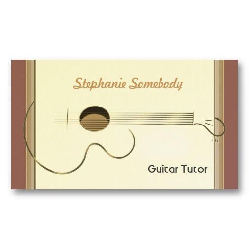 アコースティックギターモチーフの名刺。シンプルだけどインパクトのある一枚。#zazzle  #ギター #名刺