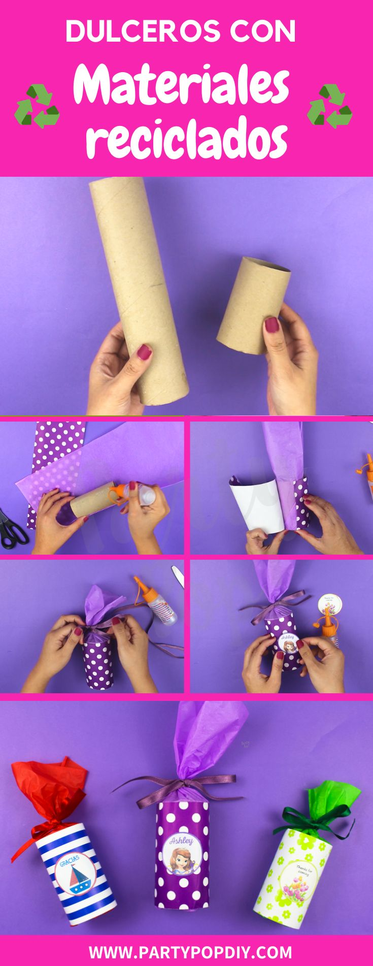 #DULCEROS #materialesreciclados #manualidades #ideaspararegalar #dulcerosdepapel #rollosdepapel Baby Shower, Diy, Flower, Recycled Materials, Recycled Crafts, Sachets, Template, Gift, Crates