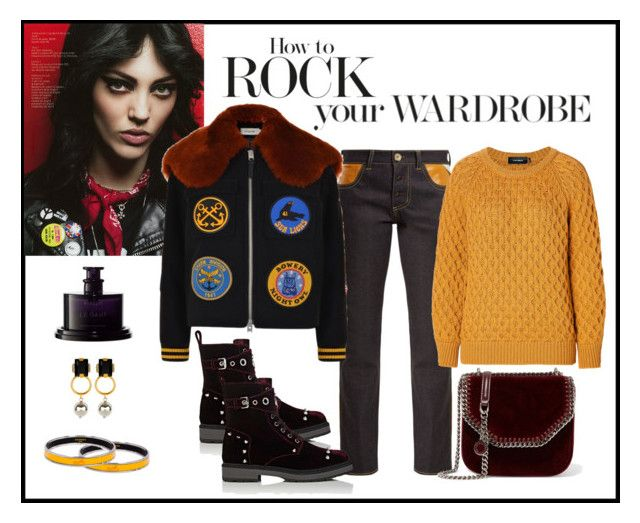 """Coach Military Bomber Jacket Look"" by romaboots-1 ❤ liked on Polyvore featuring Wales Bonner, Coach, Isabel Marant, STELLA McCARTNEY, Fendi, Hermès, Marni and Byredo"