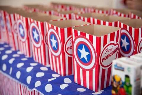 Captain America popcorn