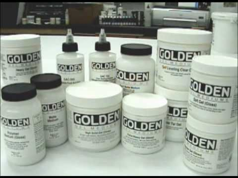 Collage: GOLDEN Gels and Mediums as an Adhesive - YouTube