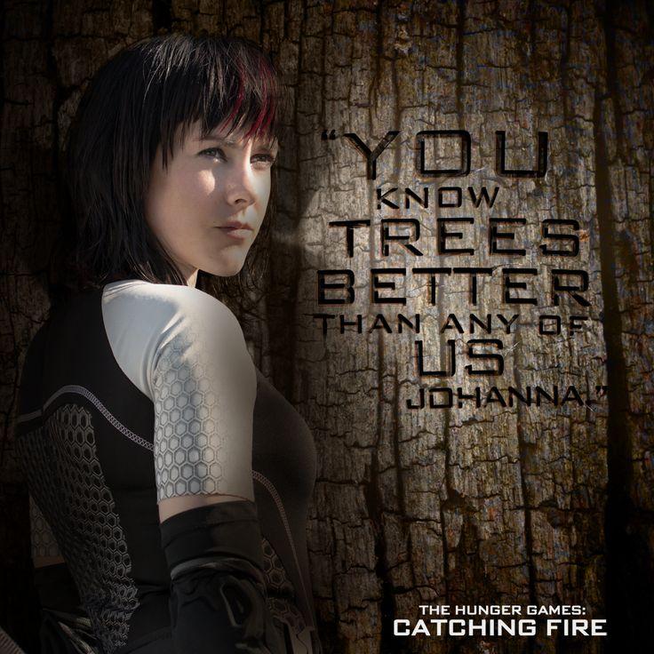 Lumber - Johanna Mason's field of expertise. #CatchingFire