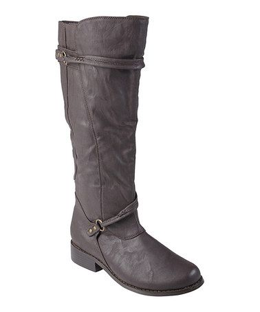 Take a look at this Brown Harley Boot by Journee Collection on #zulily today!