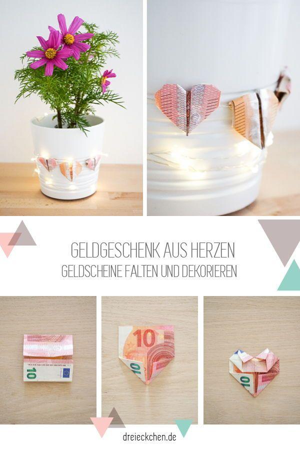 Geldgeschenke zur Hochzeit: schöne Ideen mit Blumen #dreimalanders