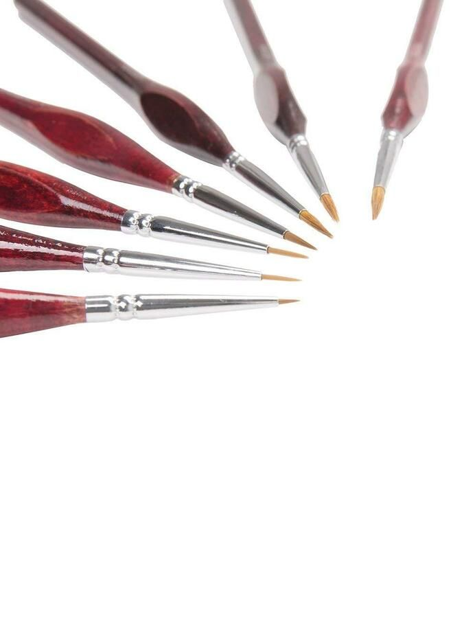 New 7 Artist Paint Brushes Set Acrylic Oil Watercolour Painting