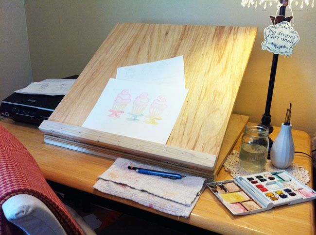 tabletop drawing board easel 2