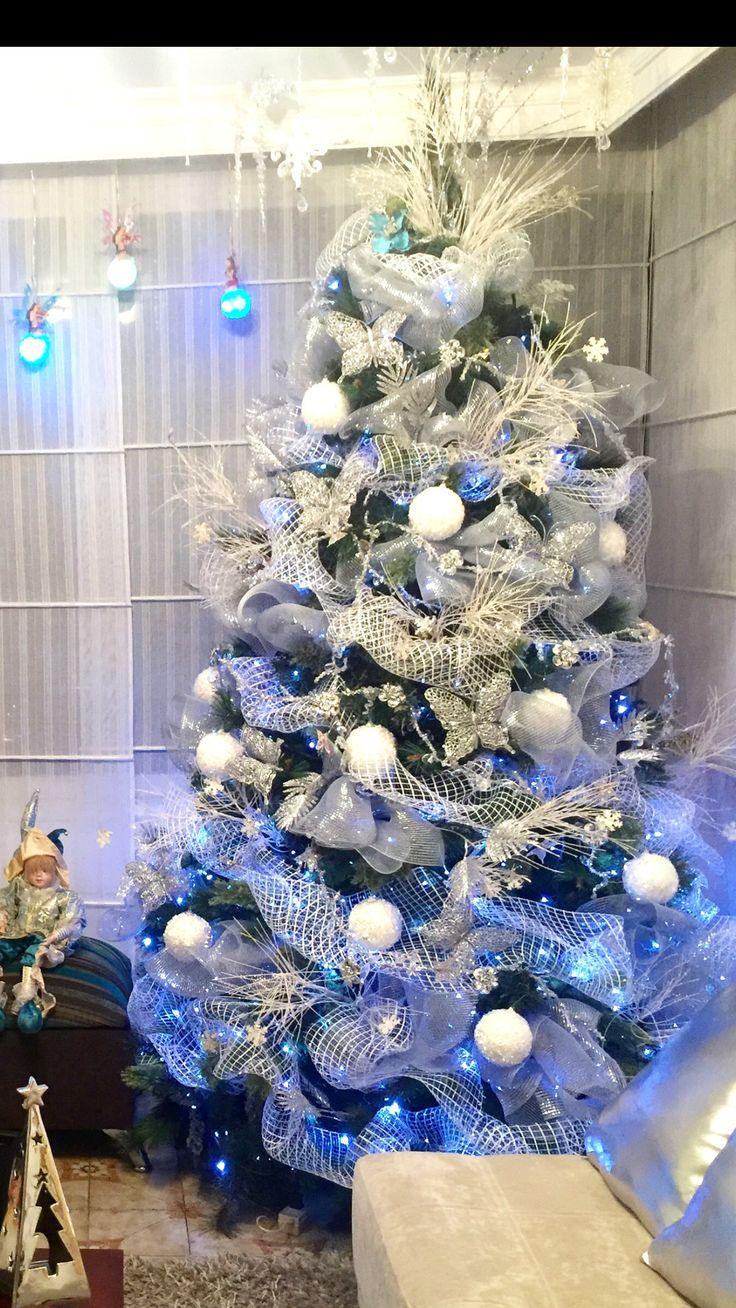 Árbol blanco Navidad Yasmín