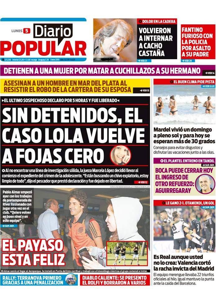 Todas las noticias en Diario Popular  http://www.diariopopular.com.ar