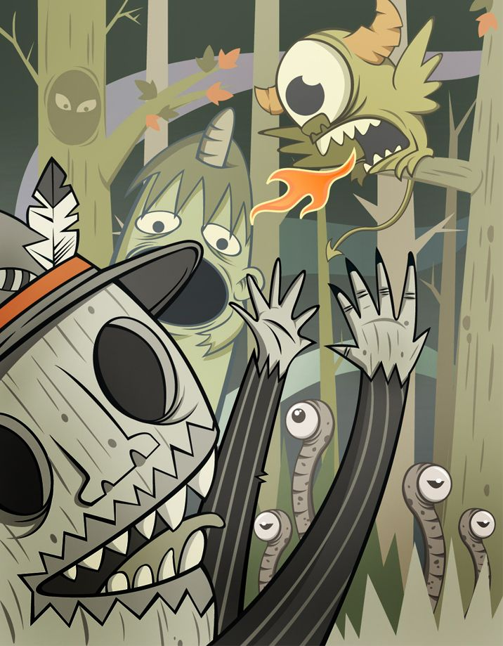 "'Monster Hunter"" vector art on Adobe illustrator +photoshop #illustration #monster #monsterhunter #vector #skullillustration #skull #jungle #landscape #horor"