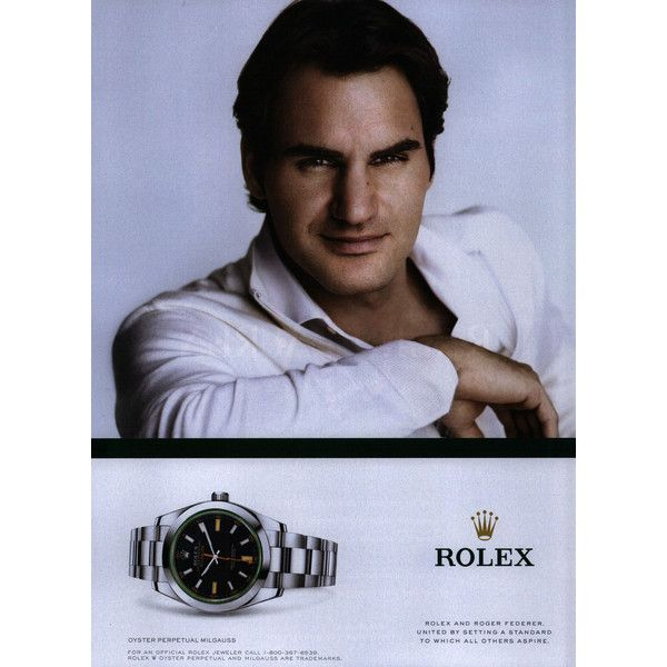 Rolex Ad Campaign Fall/Winter 2012 Shot #1 - MyFDB ❤ liked on Polyvore featuring ad campaign and roger federer