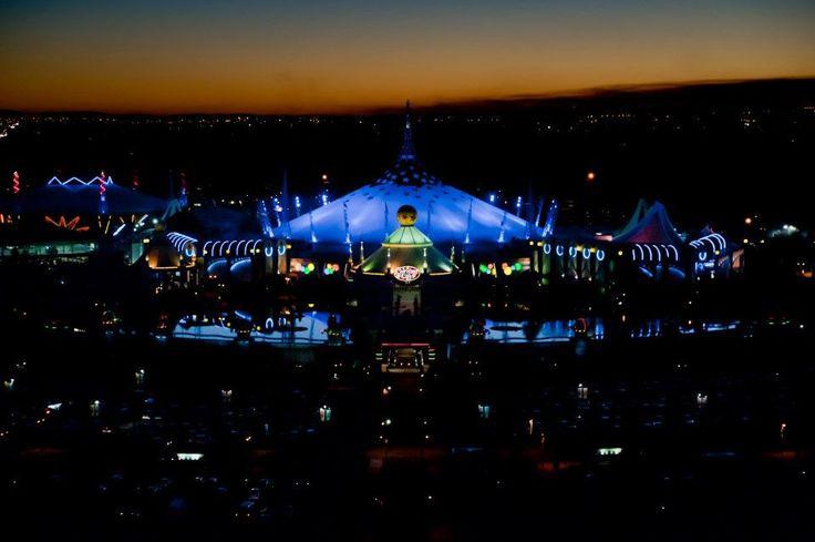 Carnival City lit up