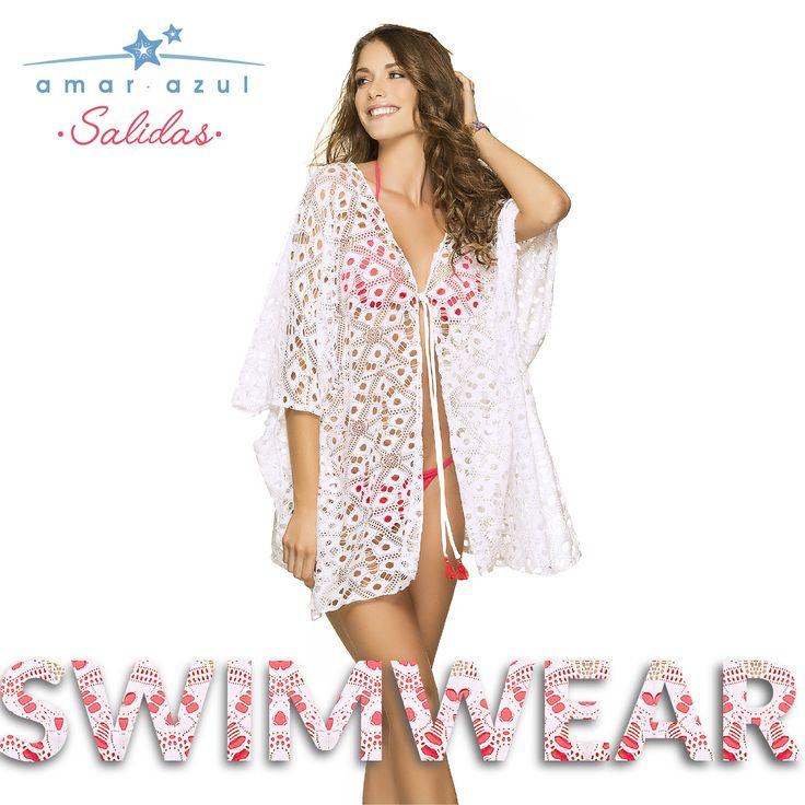 Versátil y cómoda en color blanco.  #Cáftan #amarazulswimwear #beachwear