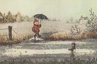Vintage Kids' Books My Kid Loves: A Year is a Window (painting by Erik Blegvad)