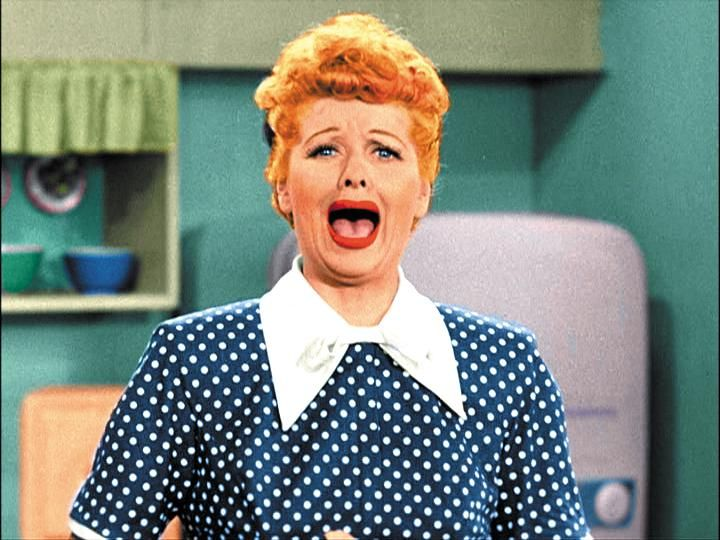 I Love Lucy Crying Color