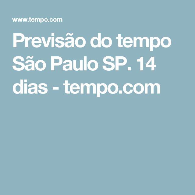 Previsão do tempo São Paulo SP. 14 dias - tempo.com