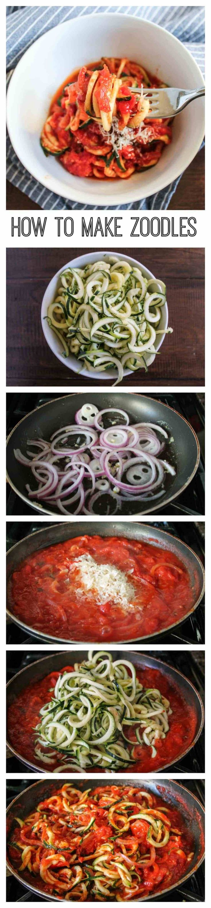 How to Make Zoodles - Zucchini Pasta via The Kittchen