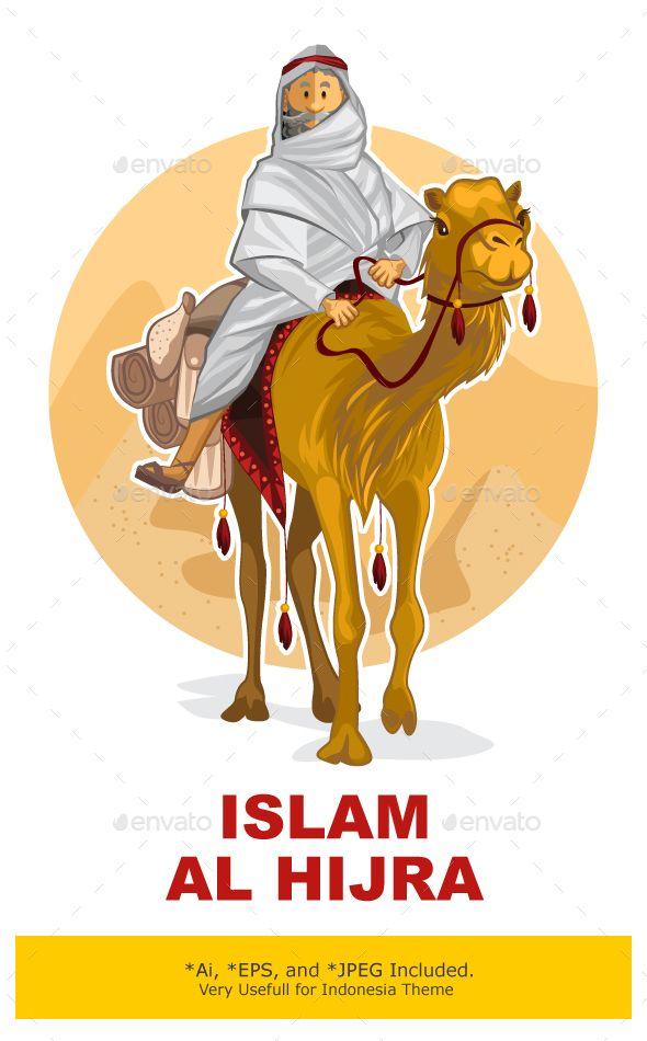 Arabian Bedouin Riding A Camel, Al Hijra Islamic