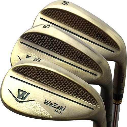 UK Golf Gear - Japan Wazaki Copper Finish M Pro Forged Soft Iron USGA R A rules of Golf Club Wedge Set(pack of three)