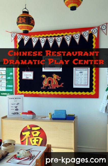 Chinese Restaurant Dramatic Play Center Printables via www.pre-kpages.com