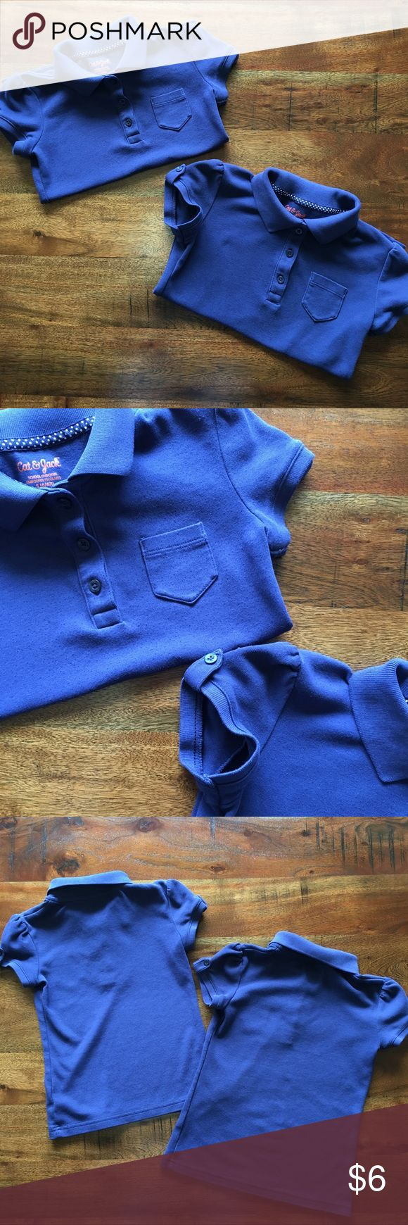 2️⃣ Bundle Girls School Uniform Polo Shirts Get this 2 bundle set of Cat & Jack girls school uniform polos in size 6-6X. The polos do having pilling due to wear. It's a soft material with adorable detail as seen above. In decent condition. Cat & Jack Shirts & Tops Polos