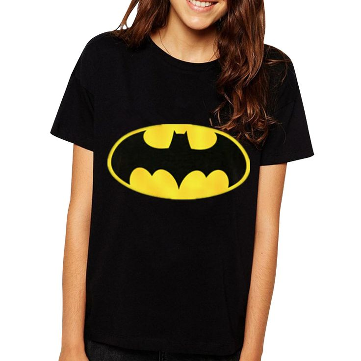 >> Click to Buy << 2016 New Fashion Brand Women T-shirts printed Batman short sleeve t shirts Stretch Cotton tees plus size Modal tops S/M/L/XL #Affiliate