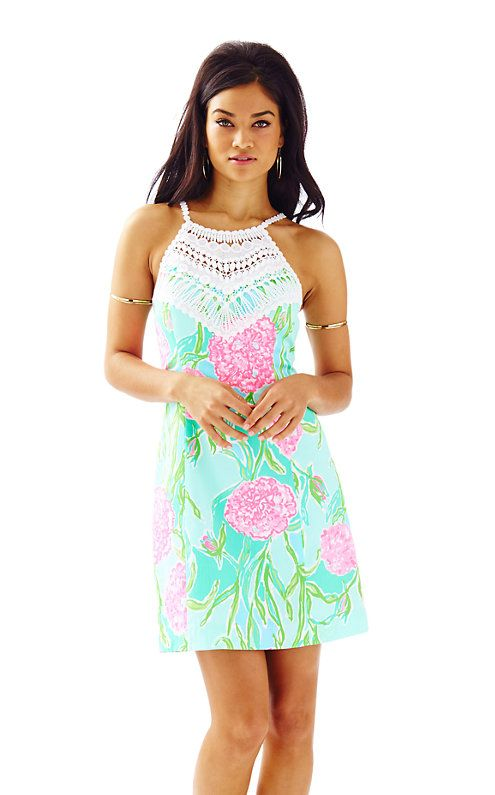 Pearl Shift Dress - Lilly Pulitzer, Poolside blue Going Stag, $198