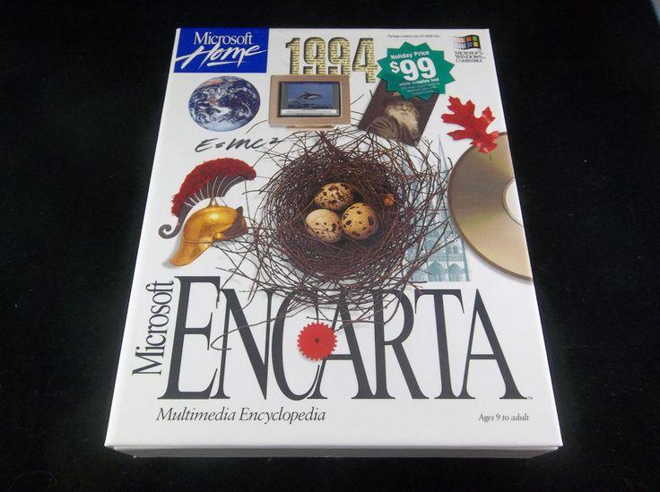 Microsoft Encarta 1994 Edition Multimedia Encyclopedia Windows CD-ROM Software   #Microsoft #Encarta #Windows #Software #Complete #Collectors #Computer #eBay #Vintage