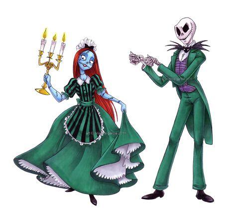 Jack & Sally Disney Fan Art