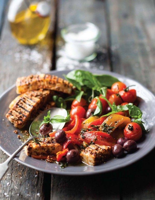 Winactie en recept: salade met gegrilde halloumi en paprika — Medium