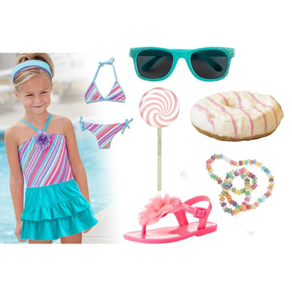 """Candy colors for a baby beach look"" by raffaellaclausi on Polyvore"