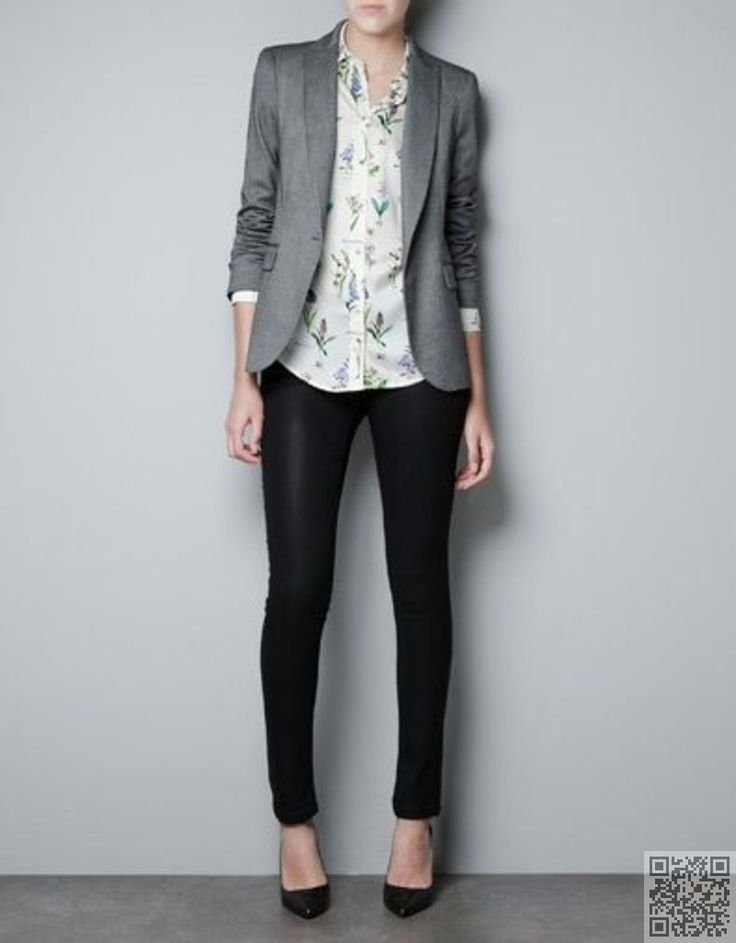 Like the pants and blazer ... Not a fan of the blouse