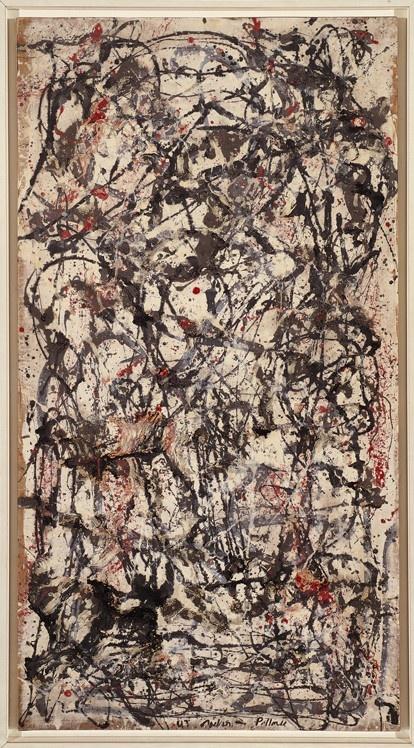 Jackson Pollock, Foresta incantata, 1947.  Art Experience NYC  www.artexperiencenyc.com/social_login/?utm_source=pinterest_medium=pins_content=pinterest_pins_campaign=pinterest_initial