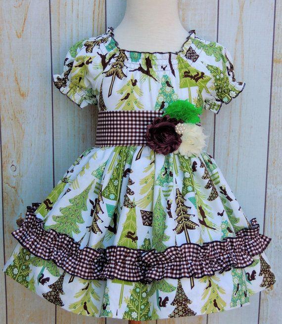 Girls Holiday Dress Girls Peasant Dress Girls by MarieVivDesigns, $40.00
