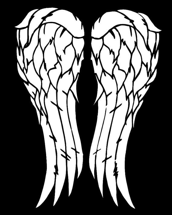 Daryl Dixon / Walking Dead Wings Vinyl Car by WibblyWobblyThings