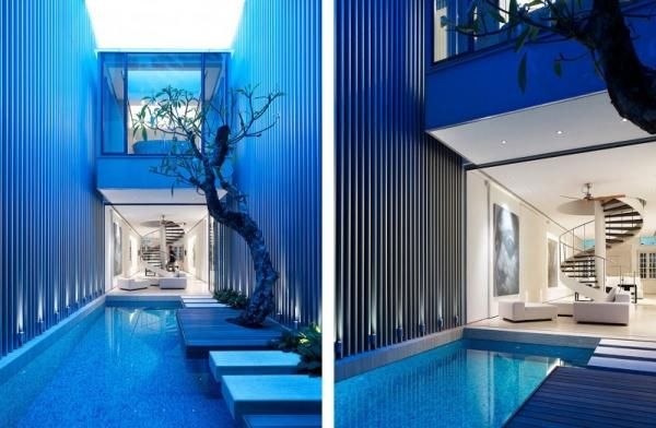 Singapore-based architectural firm ONG has completed the 55 Blair Road project in 2009. The two story contemporary residence is located 55 Blair Road in Singapore