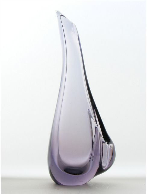 Handmade Železný Brod glass vase by Miloslav Klinger in Czechoslovakia. Year: c. 1960s