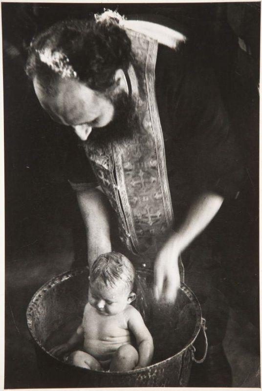 Baptism. Andartikon, 1950 David Seymour (Chim)  Magnum Photos, Inc. 1950