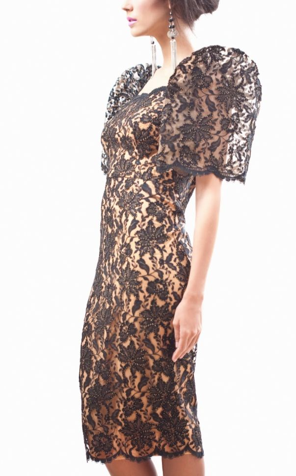 Lace Filipiniana style dress