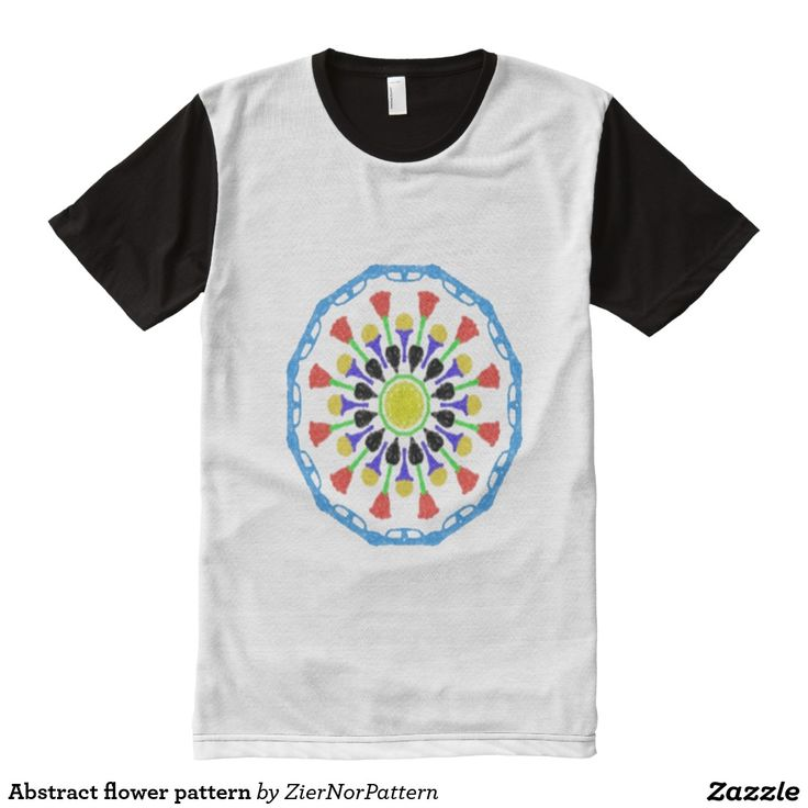Abstract flower pattern All-Over print t-shirt