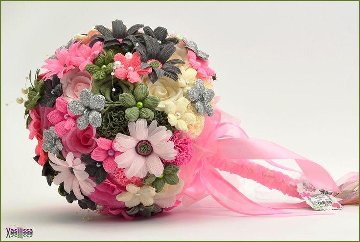 Vasilissa unikatni bidermajer od papira SAŠKA - poseban, jedinstven...  ♥ Paper flowers handmade by Vasilissa ♥