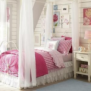 Beds/Headboards - Allie Iron Bed & Canopy | Pottery Barn Kids - white iron bed and canopy, white iron bed with canopy, white iron canopy bed...